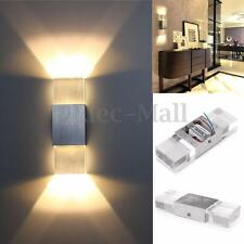 2W Modern LED Wall Light Up Down Cube Indoor Outdoor Sconce Bedroom Lamp Fixture