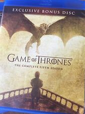 Game of Thrones Season 5 BONUS BLU-RAY DISC ONLY NO EPISODES VISUAL EFFECTS