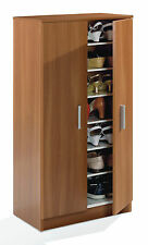Alfy Nut Brown Shoe Cabinet Cupboard Storage Rack Unit