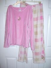 Body Touch Women Pajamas 1 X 100% Polyester Pink Pull Over Long Sleeve