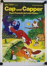 The Fox and the Hound German movie poster Walt Disney Cap und Capper