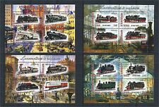 TCHAD 2013 TRAIN LOCOMOTIVES LOKOMOTIVE 4X MINI SHEET SET **
