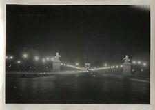 PHOTO ANCIENNE - VINTAGE SNAPSHOT - PARIS CHAMPS ELYSÉES NUIT VERS 1930 - NIGHT