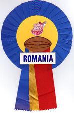 La Roumanie rugby rosette Circa 1979 largeur 13 cm