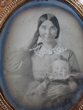 ANTIQUE VICTORIAN AMERICAN AMBROTYPE AWKWARD VICTORIAN POSE FUNNY MOTHER PHOTO