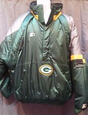 Vintage NFL ProLine Starter Green Bay Packers XL Puffy Winter Pullover Jacket