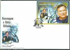 SAO TOME et PRINCIPE  2014 HOMMAGE TO ROBIN WILLIAMS SOUVENIR SHEET  FDC