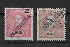 ANGOLA , PORTUGAL ,1911, SETOF 2 STAMPS , PERF , USED