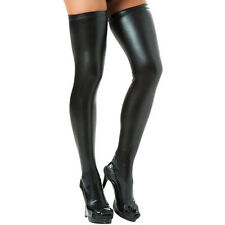 Woman's Sexy Wild Faux Leather PVC Stockings & Leggings Hold Ups Fetish Shinny
