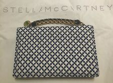 STELLA MCCARTNEY Grace Eco Co Print Clutch Bag Handbag NEW Unique Navy Blue