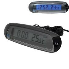 Car Thermometer In/Out & Clock Digital Blue Backlit Backlight Ice Alert (CP06)