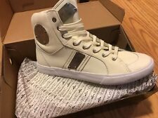 Creative Recreation Mens Fenelli Vintage Silver Leather Fashion Sneakers 10 M