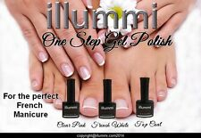 illummi French Manicure Set UV LED Soak Off Gel Nail Polish 12 ml Size