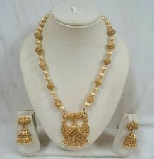 Traditional Gold Plated Indian Bollywood Bridal Fashion Jewelry Necklace Set