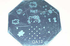 Stamping Device Nail Art Plate Hello Kitty QA12