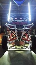 2FT quick disconnect WHITE LED light whip SXS ATV UTV rzr 4 wheeler RZR TERYX