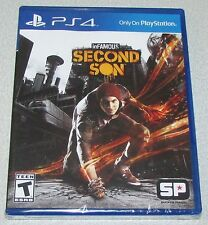 Infamous Second Son for Playstation 4 Brand New! Factory Sealed!