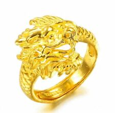 Pure 24K Yellow Gold Ring /Bless Men&Women Ring /9-10g / Us Size:4-10