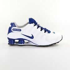 Nike Shox NZ SE Running Shoes Mens Size 7 White Coastal Blue Grey 833579 104