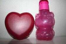 Tupperware EcoEasy kinder Flasche Hello Kitty 425ml + tolle Herz Dose RARITÄT
