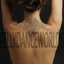 BEAUTIFUL MANDALA HENNA BACK NECK TEMPORARY TATTOO WATERPROOF BODY ART STICKER