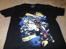 DeadPool Mens Unicorn Taco Marvel Comics Black T-Shirt Size Small S