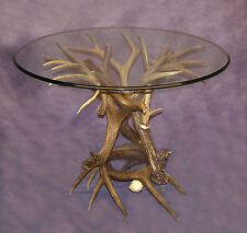 REAL ANTLER WHITETAIL / MULE DEER TABLE BASE CHANDELIER LAMPS