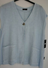 GORGEOUS  SARAH SANTOS  100% Linen jacket in pale blue size M/L