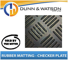 3.5mm Thick Checkerplate Sheet Rubber Matting (1200mm Wide) - sold by the meter