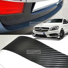 Carbon Black Rear Bumper Protector Decal Sticker for Mercedes Benz 14-16 A Class