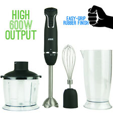 NEW Logik 600W Nutri-Stick Stick Hand Blender Food Chopper Whisk Matte Black