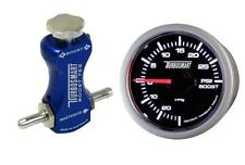 Controlador de refuerzo de manual Turbosmart azul y Turbosmart 52mm Boost Gauge Psi