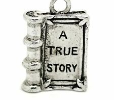 A SILVER TRUE STORY BOOK CLIP ON CHARM -TIBET SILVER - LOOK AT MY EBAY SHOP- NEW