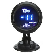 "52mm 2"" Black Car Digital Turbo Boost Gauge Meter with Sensor -14~29PSI New J8I3"