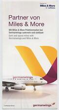 GERMAN WINGS Miles & More leaflet Lufthansa airline logo memorabilia brochure ax