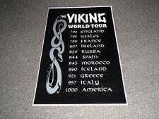 Scandinavian Swedish Danish Norwegian Viking World Tour Poster Print
