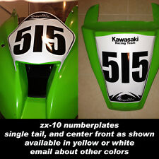 trackday or race numberplate set fits 2011 2012 2013 kawasaki zx10 zx 10