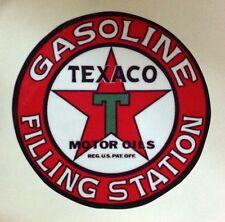 RAT ROD HOT ROD STICKER   TEXACO GASOLINE FILLING STATION