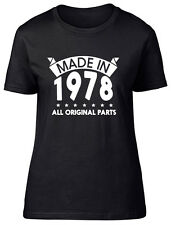 Made in 1978, All Original Parts Birthday Womens Ladies Short Sleeve T-Shirt