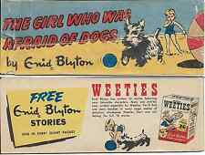 WEETIES AUSTRALIA CEREAL GIVEAWAY PROMO ENID BLYTON GIRL WHO WAS AFRAID DOGS VG