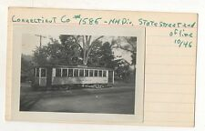 Connecticut Company Trolley 1586, Original Trolley Photograph