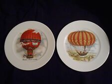 Set of 2  Limoges Hot Air Balloon Plates