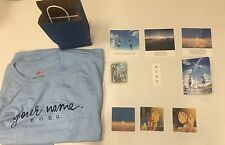 Your Name Kimi No Na Wa Anime premiere giftbag exclusive items from the movie