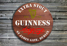 Traditional Guinness Barrel End Wooden Pub Sign ☘ Hand Made in Ireland ☘
