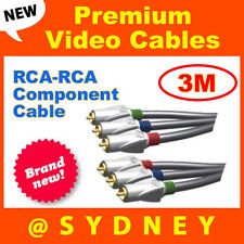 NEW High Quality ISIX Pro HQ 3m RGB Video RCA-RCA Component AV Cable