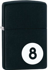 Zippo 8 Ball Billiards Black Matte Windproof Lighter 28432 New