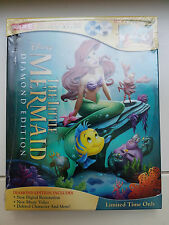 The Little Mermaid Digibook SOLD OUT Blu Ray + DVD + 32 Page Storybook SEALED
