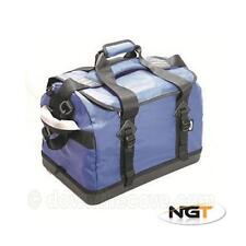 NGT Medium Saltwater Fishing Bag - Heavy Duty Waterproof Boat Bag with Hard Base