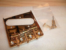 Gold Tele Telecaster Vintage Style Bridge with Steel saddles