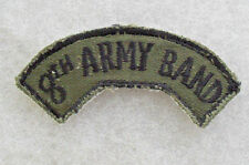 """70/80'S """"8TH ARMY BAND"""" TAB KOREAN EMBROIDERED ON SUBDUED TWILL CUT EDGE"""